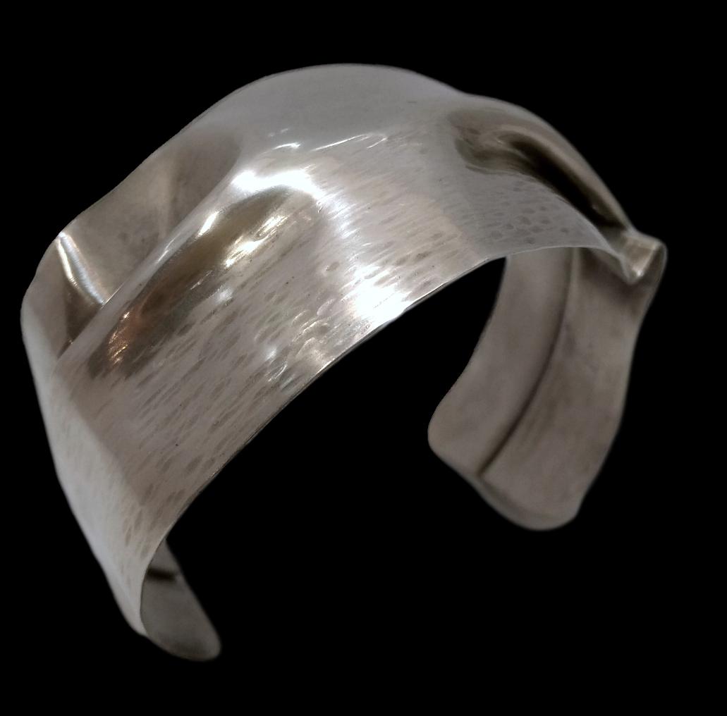 Fold Form Silver Cuff