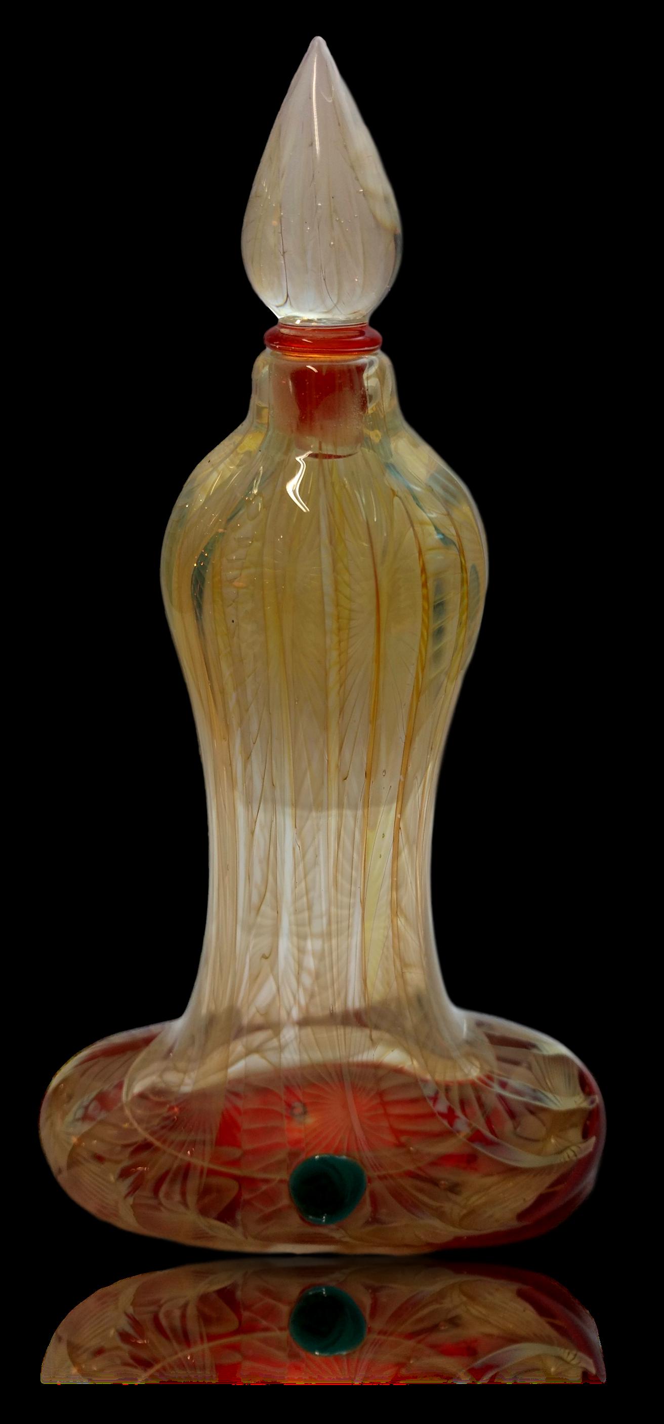 Blown Glass Perfume Bottle
