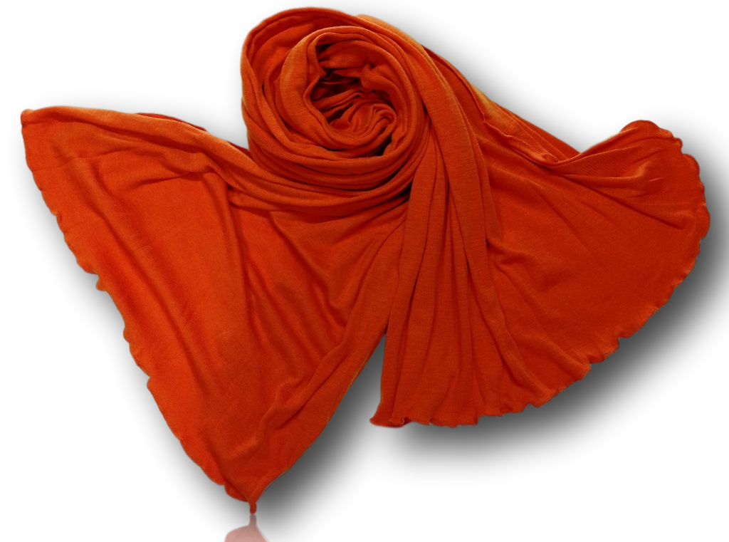 Orange  Wide Scarf
