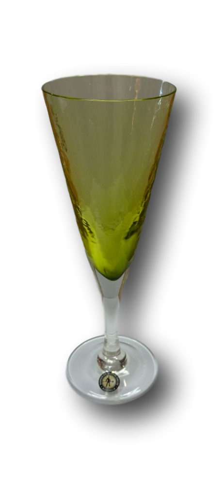 Olive Green Wine Glass