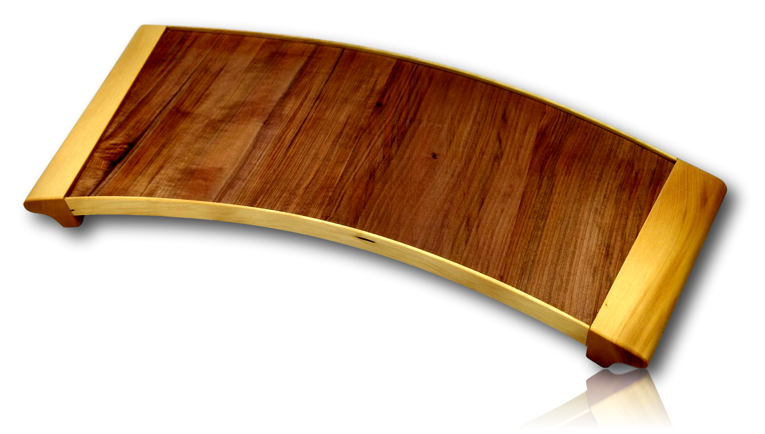 Huon Pine & Myrtle Curved Tray