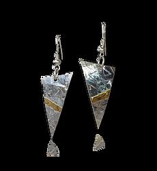 Silver 9ctGold Triangle Slash