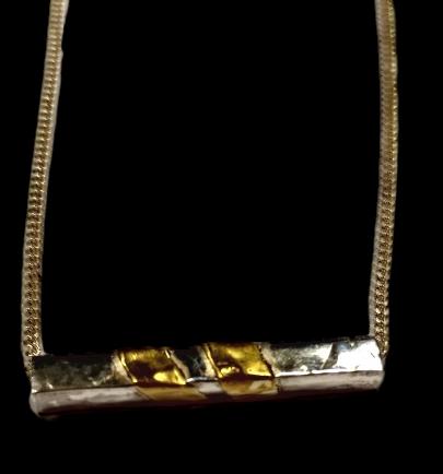 Silver & Gold Slash Necklace