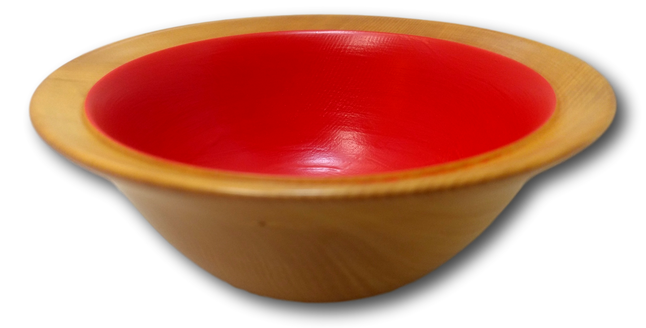 Large Orange Painted Dish