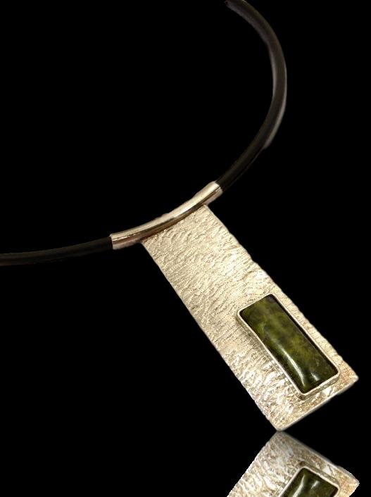 Stichette Silver Pendant