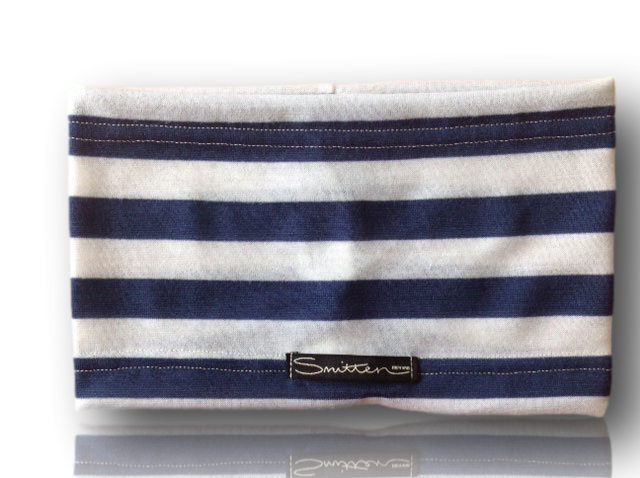 Wide Blue Stripe Head Band