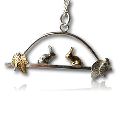 Autumn Bunny Necklace