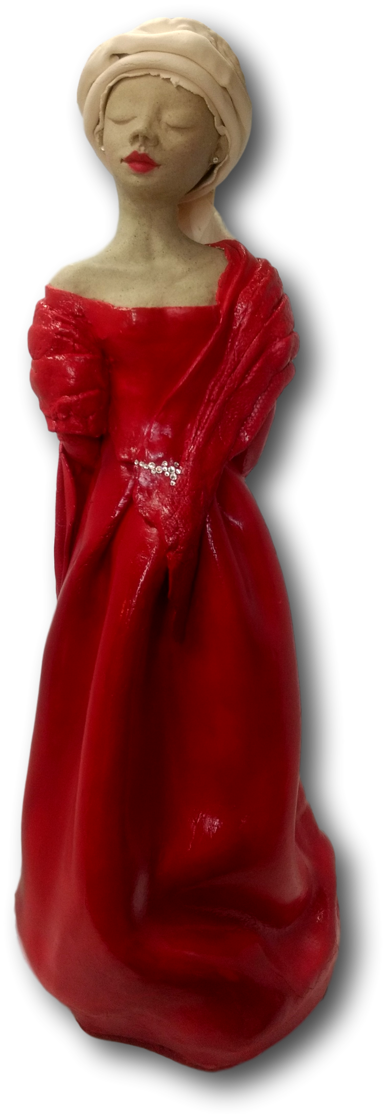 Red Lady with Swarovski Crystals