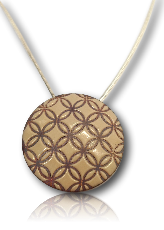 Large enamel pendant