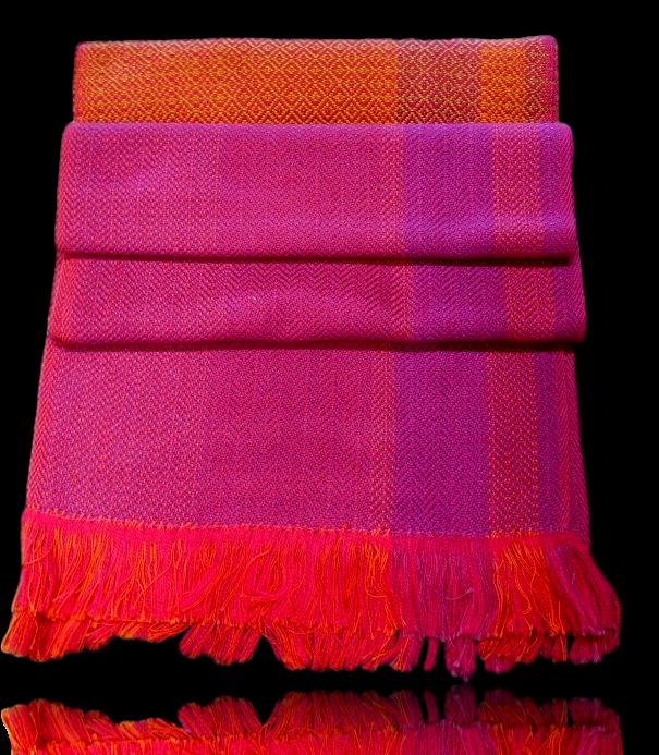 Pink/Orange Twill Scarf