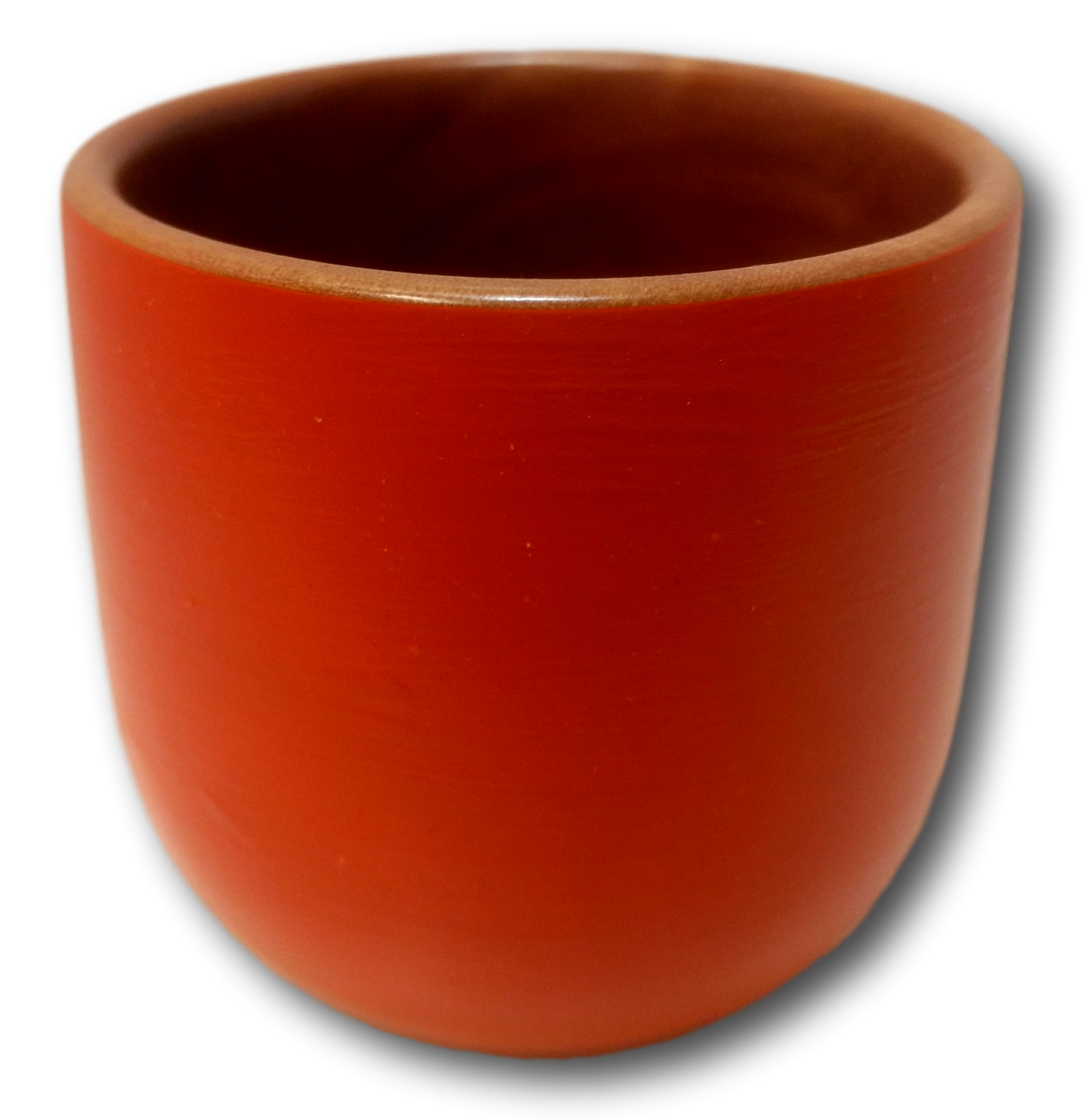 Med Orange Painted Pot Huon