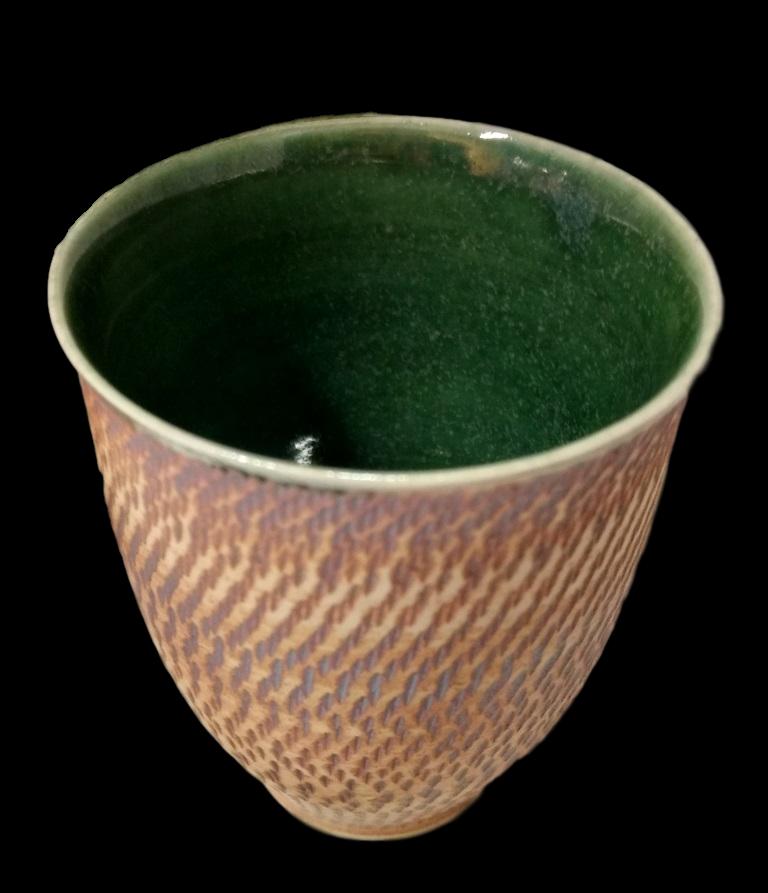 Green Glaze Chattered Beakers