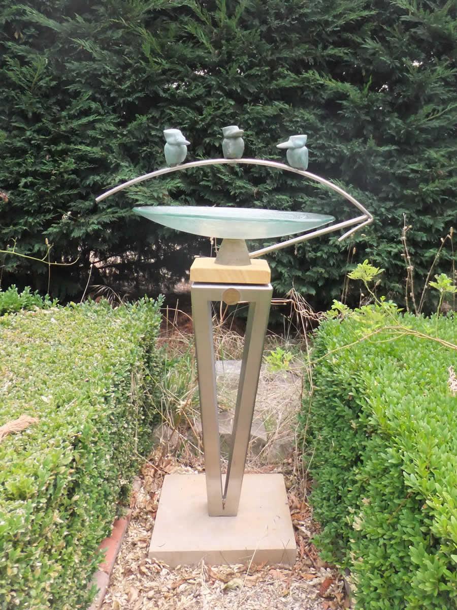 Steel Base arch birdbath