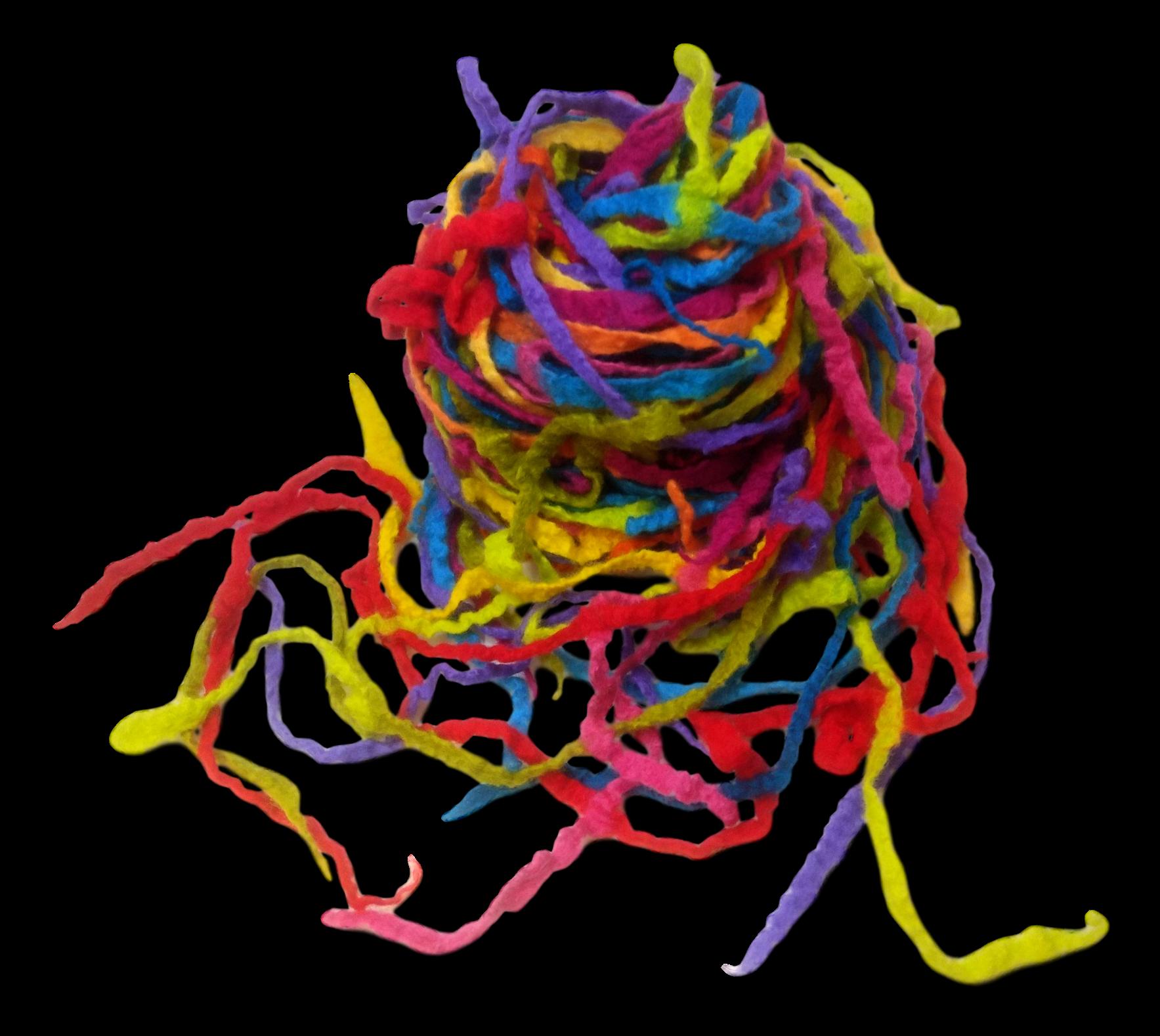 """""""Fisherman's Net"""" Wool Felted Scarf"""