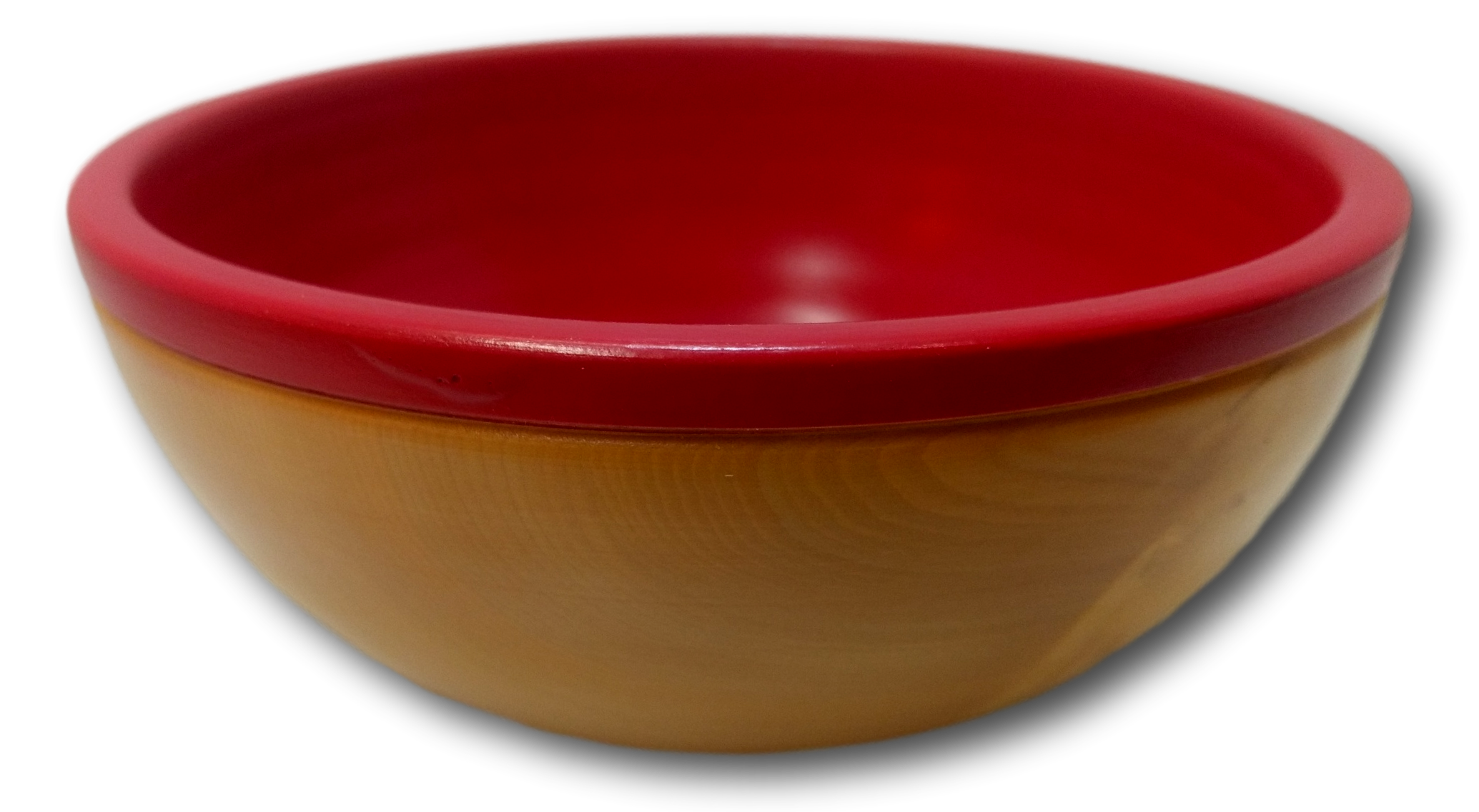 Large Red Painted Dish