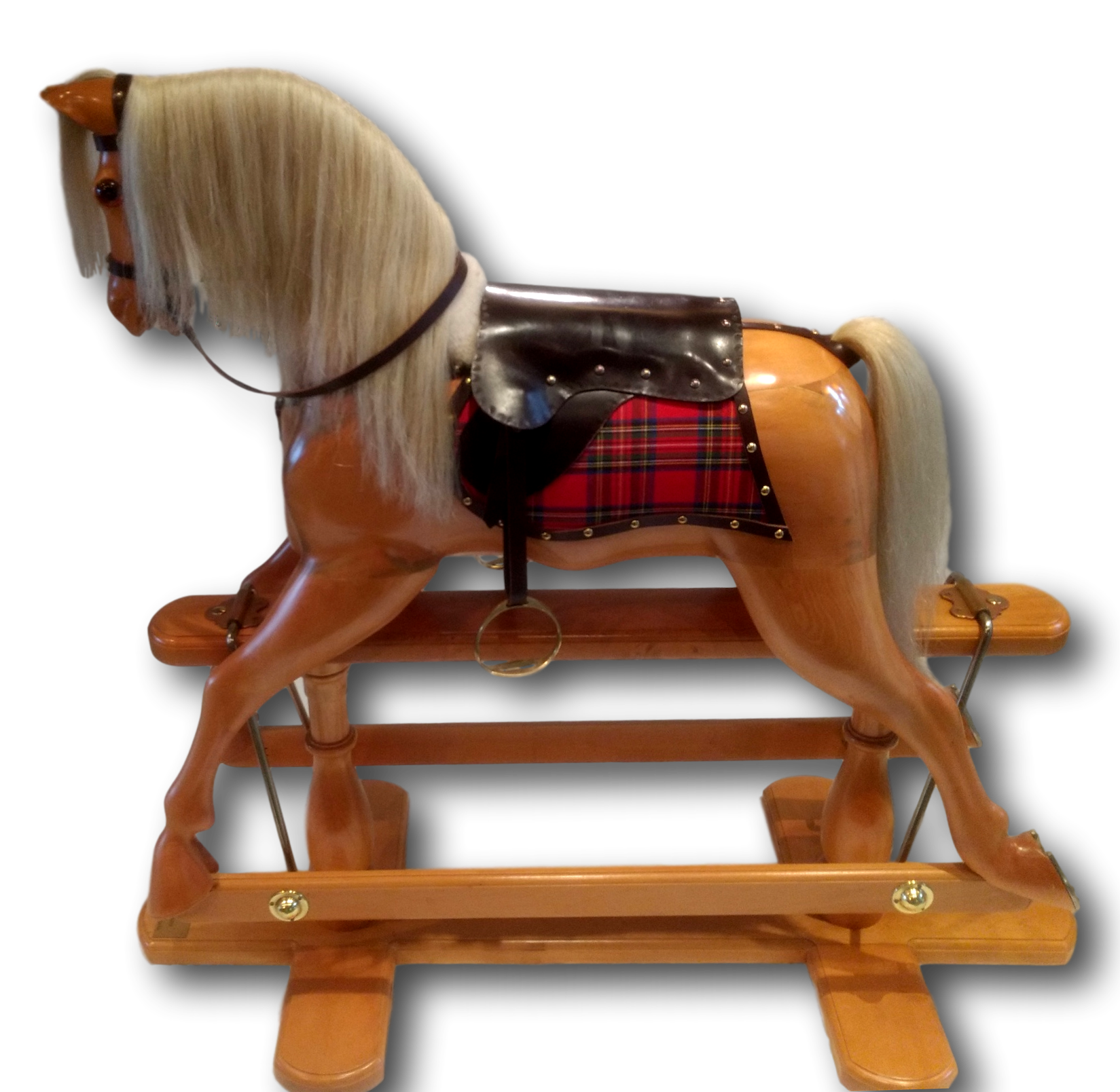 Solid Huon Pine Rocking Horse