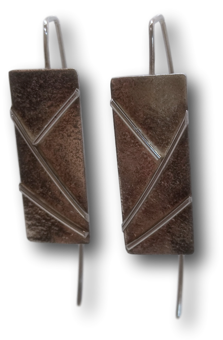 Art Deco Silver Earrings