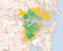 Sydney map showing Alongshore removals freezone
