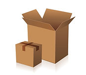 Moving boxes and materials for hire or to buy