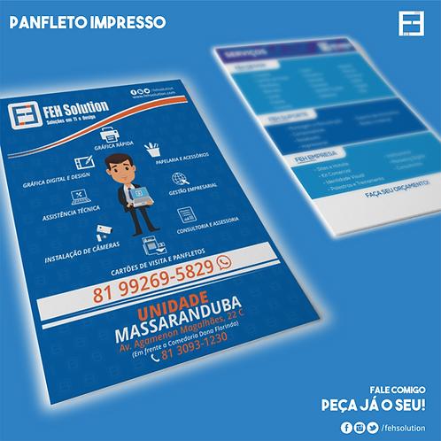 Panfleto - 14x20 cm - Frente e Verso