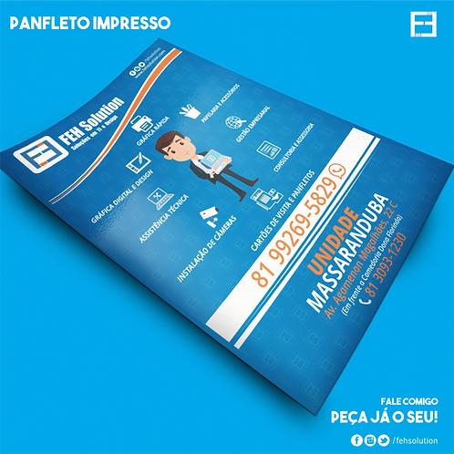 Panfleto - 10x14 cm - Frente