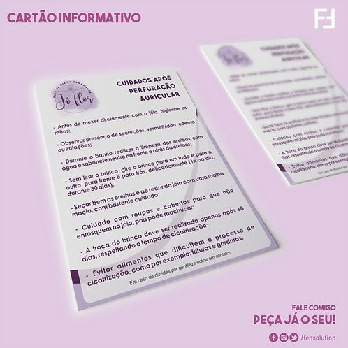 Cartão Informativo de Cuidados