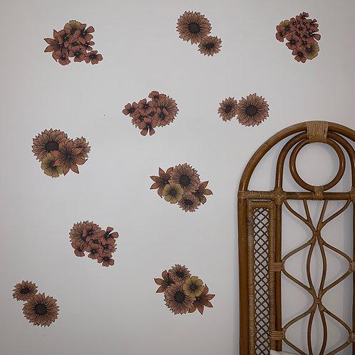 Wall Decal | Rust Sunflower