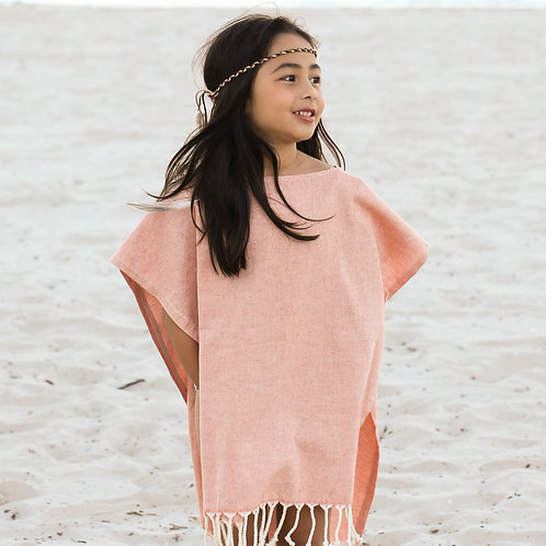 Hooded Poncho Towel | Terracotta