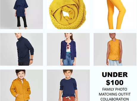 Navy & Gold Target Family Photo Outfits