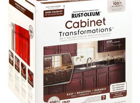 My Kitchen & Bathroom Cabinet Transformation
