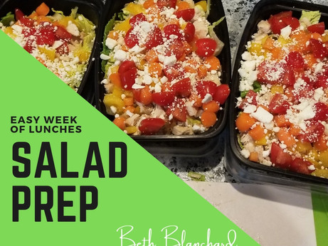Easy Salad Weekly Meal Prep