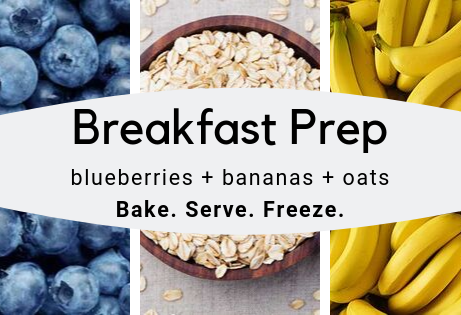 Breakfast Prep (blueberry+banana+oats)