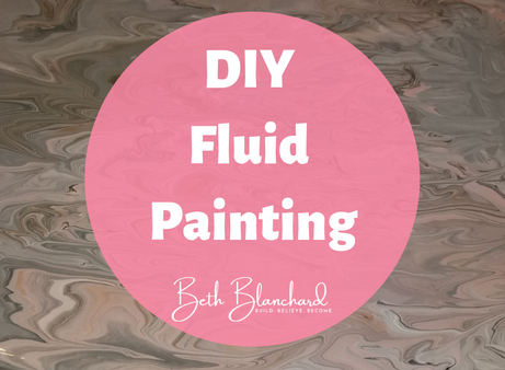 Cheap DIY Fluid Painting with Kids
