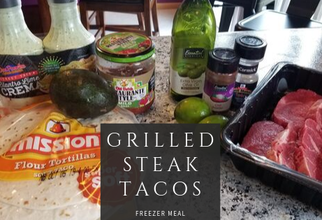 Top Rated Grilled Steak Tacos Freezer Meal
