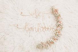 couronne en filaire et fleurs séchées - Haut comme trois perles
