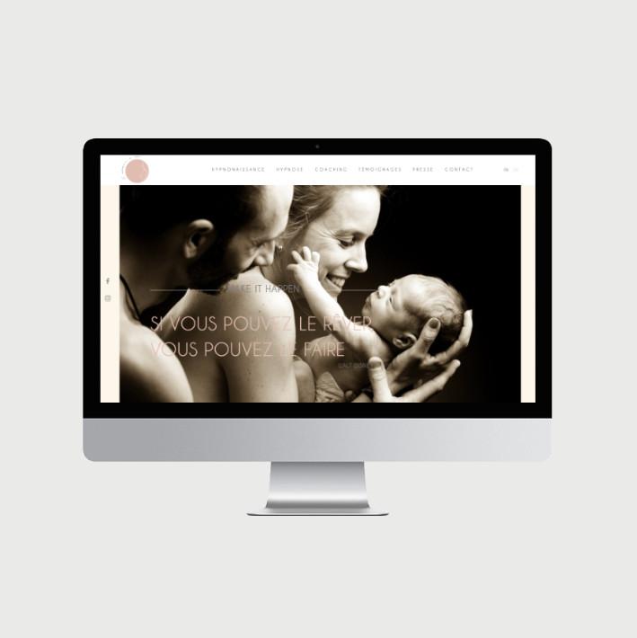 Hypnonaissance site internet - © al.ba, @albagraphicdesign