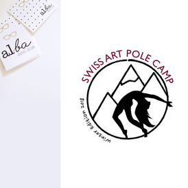 al.ba - logo sur mesure © albagraphicdesign Swiss Art Pole Camp