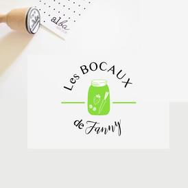 al.ba - logo sur mesure Les Bocaux de Fanny © albagraphicdesign