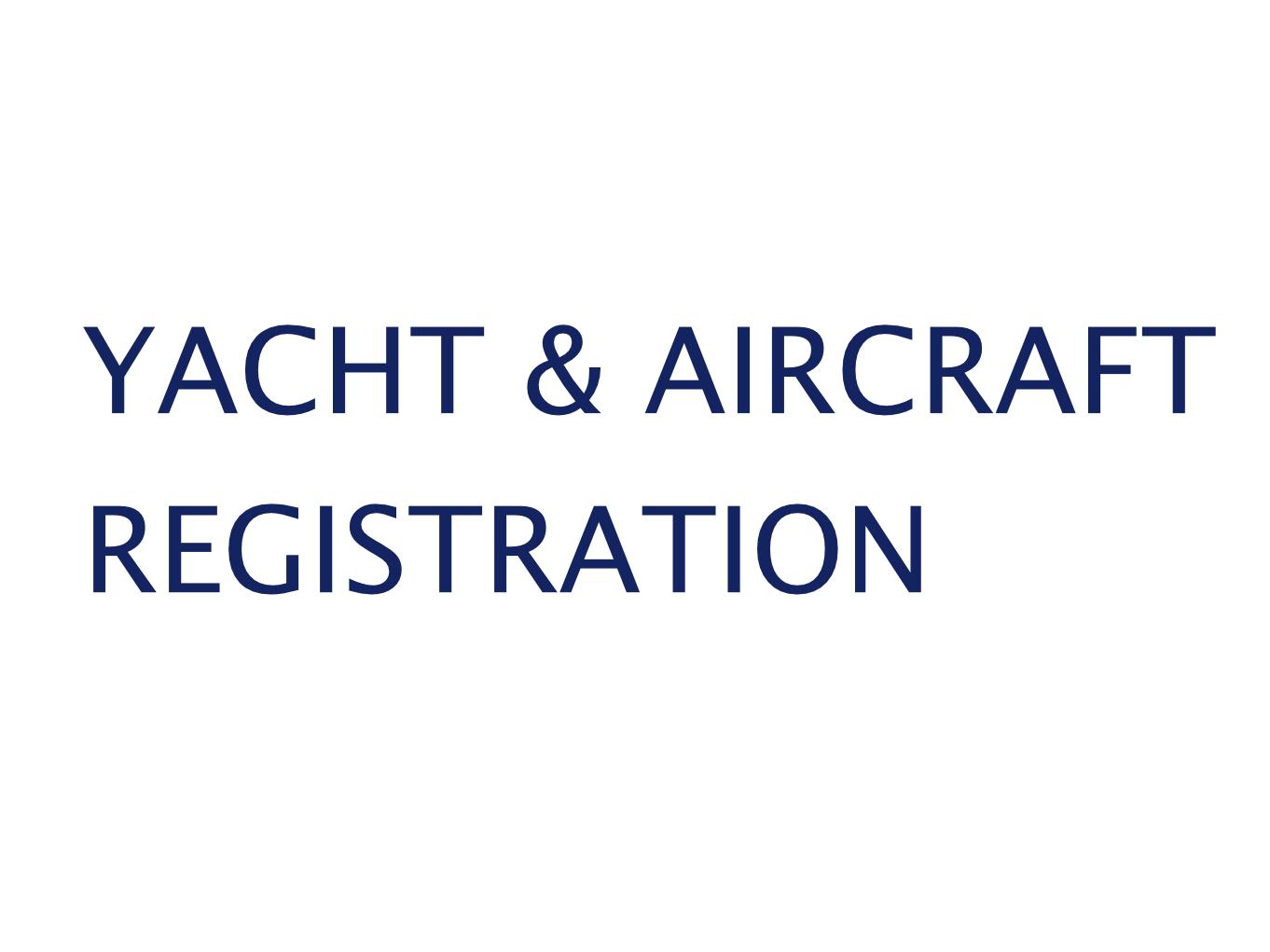 yacht aircraft registration gwcm