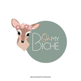 Oh my Biche  - Logo © al.ba graphic design