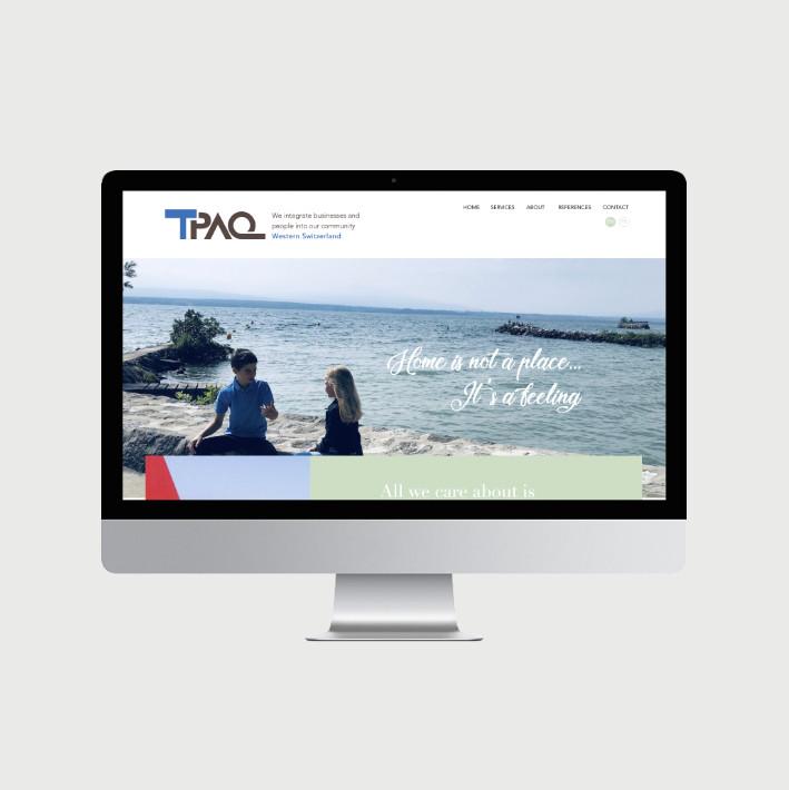 TPAQ site internet - © al.ba, @albagraphicdesign
