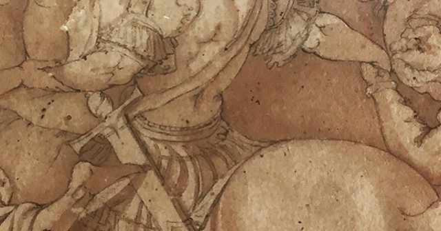 #details #drawing #brownink #and #watercolor #graphicarts #graphic #graphiccollection #italianartist