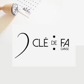 al.ba - logo sur mesure © albagraphicdesign Clé de Fa danse