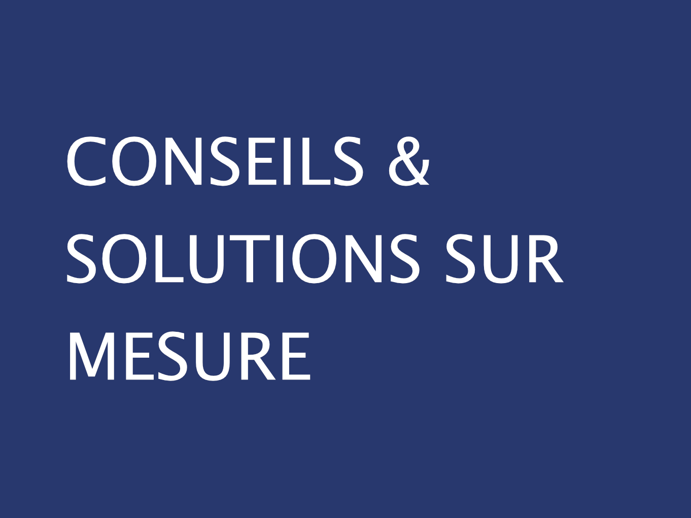 CONSEILS SOLUTIONS SUR MESURE GWCM