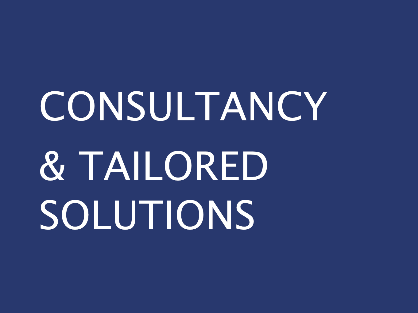consultancy tailored solutions GWCM