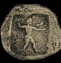 Zeus brandissant un javelot