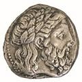 Zeus tête laurée