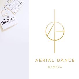 al.ba - logo sur mesure © albagraphicdesign Aerial Dance Geneva