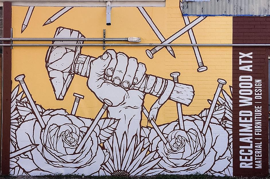 Store Mural - Reclaimedwoodatx