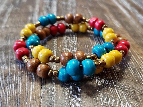 Survivor Bracelet - Wood Beads